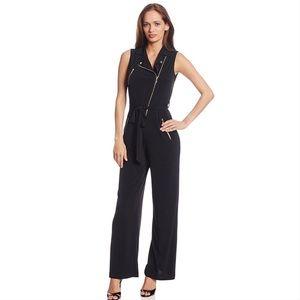 🆕 Calvin Klein Black Zipper Jumpsuit Size 6